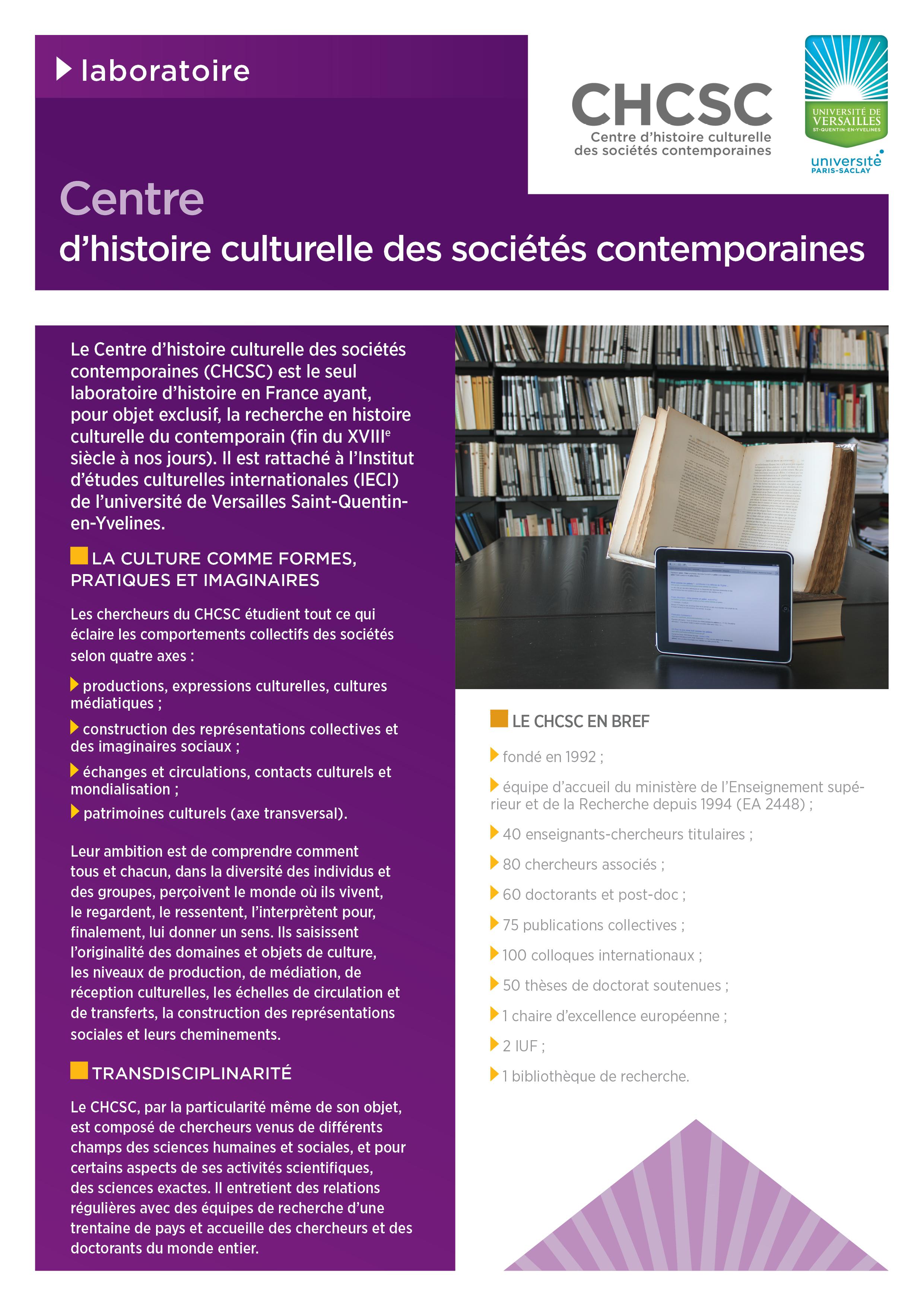 Plaquette CHCSC
