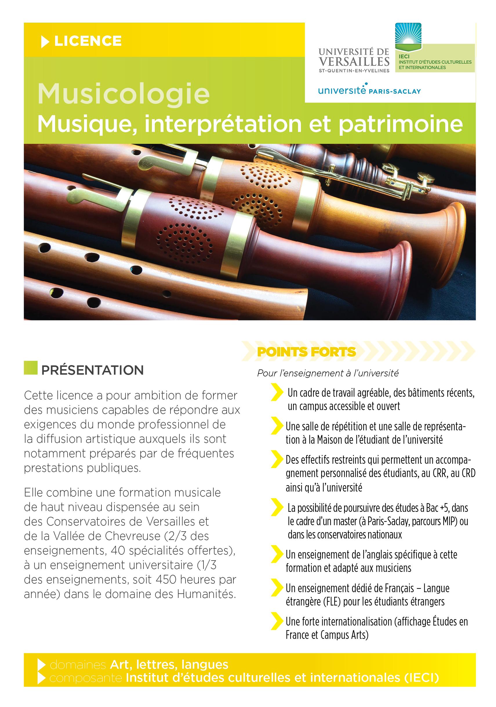 Plaquette musicologie